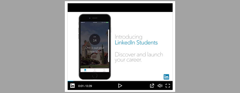 LinkedIn Students App